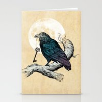 key Stationery Cards featuring Raven's Key by Rachel Caldwell