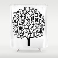 math Shower Curtains featuring math by store2u