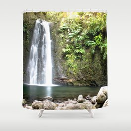 lime green waterfall Shower Curtain