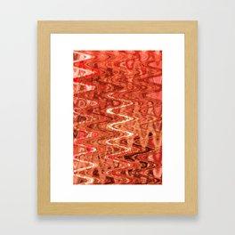 Waves Saffron Framed Art Print