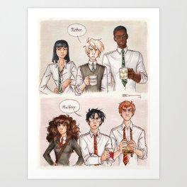 Potter - Malfoy Art Print