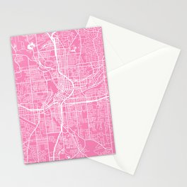 Atlanta map pink Stationery Cards