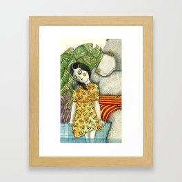 Unuasal Couples Framed Art Print