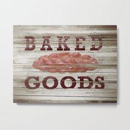 Rustic Baked Goods Bread Kitchen Art A298 Metal Print