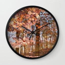 Avalon Fall Reflections Wall Clock