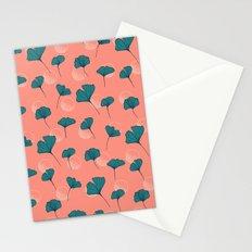 Bright Ginkgo & Dots #society6 #decor #buyart Stationery Cards