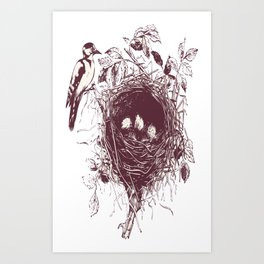 Watchful Mother Art Print