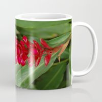 hawaiian Mugs featuring Hawaiian flower by lennyfdzz