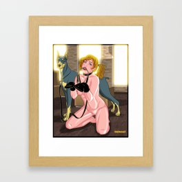 Fetish Slave Framed Art Print