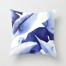 Royal Blue Palms no.1 Throw Pillow