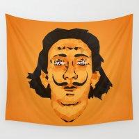 dali Wall Tapestries featuring Dali Techy Art by Angel Decuir