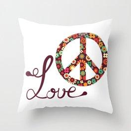 Peace - Spread The Love Throw Pillow