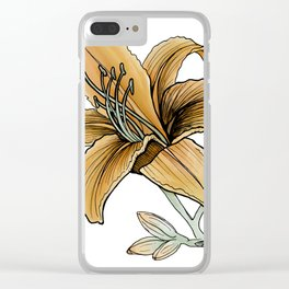 Daylily: Confidence Clear iPhone Case