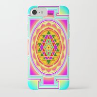 chakra iPhone & iPod Cases featuring Shri Chakra by Artisticcreationsusa