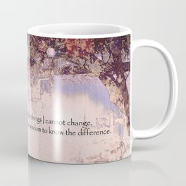 Serenity Prayer Blossoms and Lanterns Coffee Mug