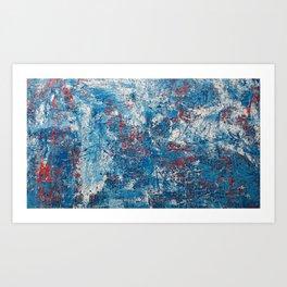 azul abstrato Art Print