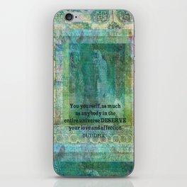 Buddha positive inspiring quote iPhone Skin