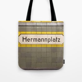 Berlin U-Bahn Memories - Hermannplatz Tote Bag