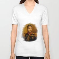 replaceface V-neck T-shirts featuring Will Smith - replaceface by replaceface