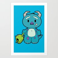 monster inc Art Prints featuring Hello Monster by Pimator24