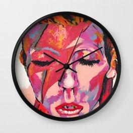 """David """"Zigi Stardust"""" Bowie Wall Clock"""
