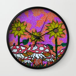 Sunset Psychedelia Wall Clock