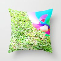 plain Throw Pillows featuring Plain Sight by Rachel