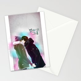 Kissing from the stars Stationery Cards