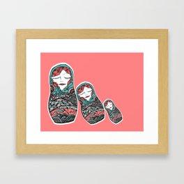 Sleeping Matrioska Framed Art Print