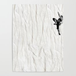 Woman Climbing a Wrinkle Poster