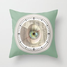 Time to be born Throw Pillow