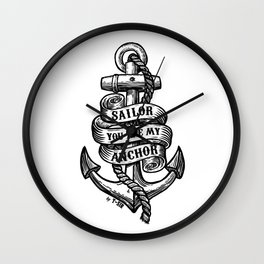You Are My Anchor Wall Clock