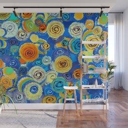 Circling Impressions Wall Mural