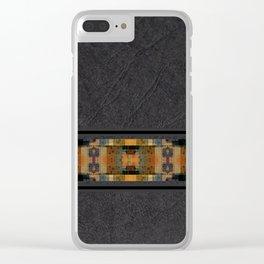 Textured Southwestern Stripe Pattern Clear iPhone Case