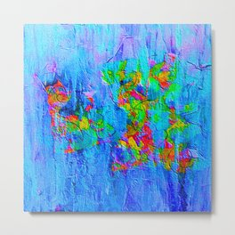 Blue Wash Jazzy Abstract Metal Print