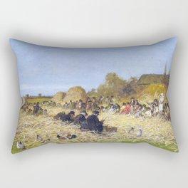 Husking Bee, Island Of Nantucket - Eastman Johnson Rectangular Pillow