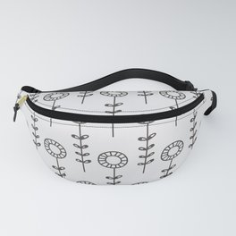 Sunflowers - gray Fanny Pack