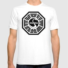 Dharma Initiative - Swan Station Logo Shirt Mens Fitted Tee White SMALL