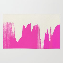 Pink Paint Layers Rug