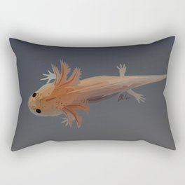 Axolotl Vector in Orange Rectangular Pillow