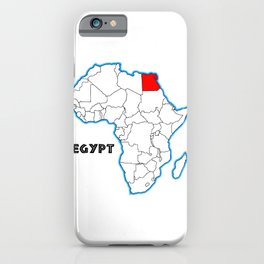 Egypt Map iPhone Case