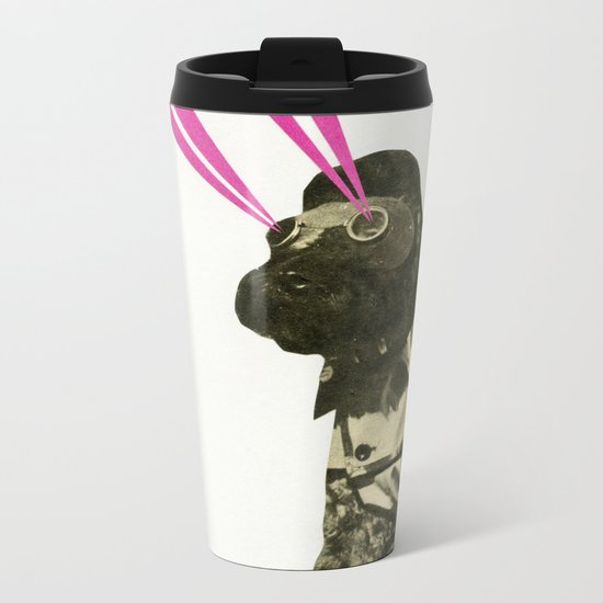 Space Dog Metal Travel Mug