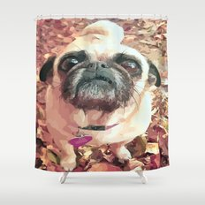 Pug Love ~ In Delilah's Eyes Shower Curtain