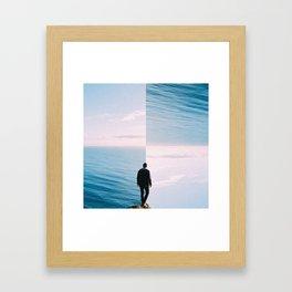 Checkered Ocean Framed Art Print