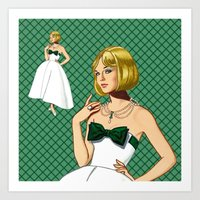 emerald Art Prints featuring Emerald by Tom Tierney Studios