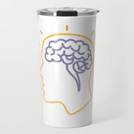 Human Brain Activity Monoline Travel Mug