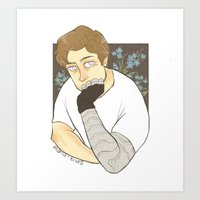 bucky barnes Art Prints featuring Bucky Barnes by maria euphemia