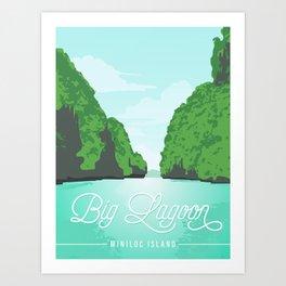 Big Lagoon | Miniloc Island Art Print