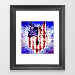 wolf USA Framed Art Print