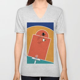 Street Basketball  Unisex V-Neck
